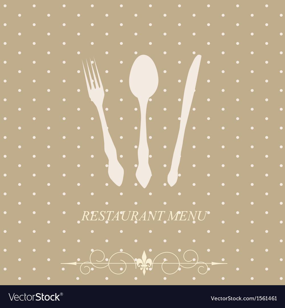 The concept of restaurant menu vector | Price: 1 Credit (USD $1)