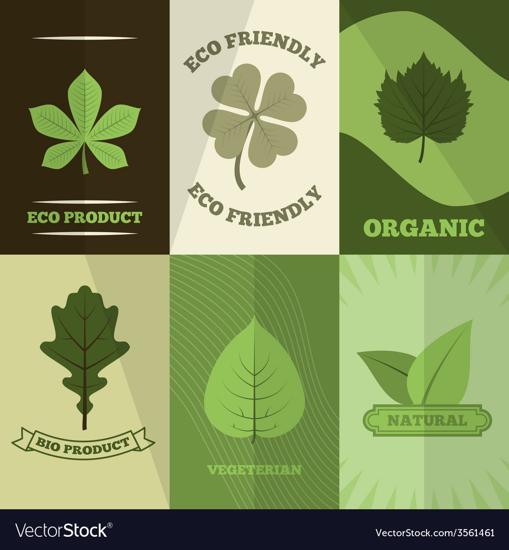Ecology icons poster print vector | Price: 1 Credit (USD $1)