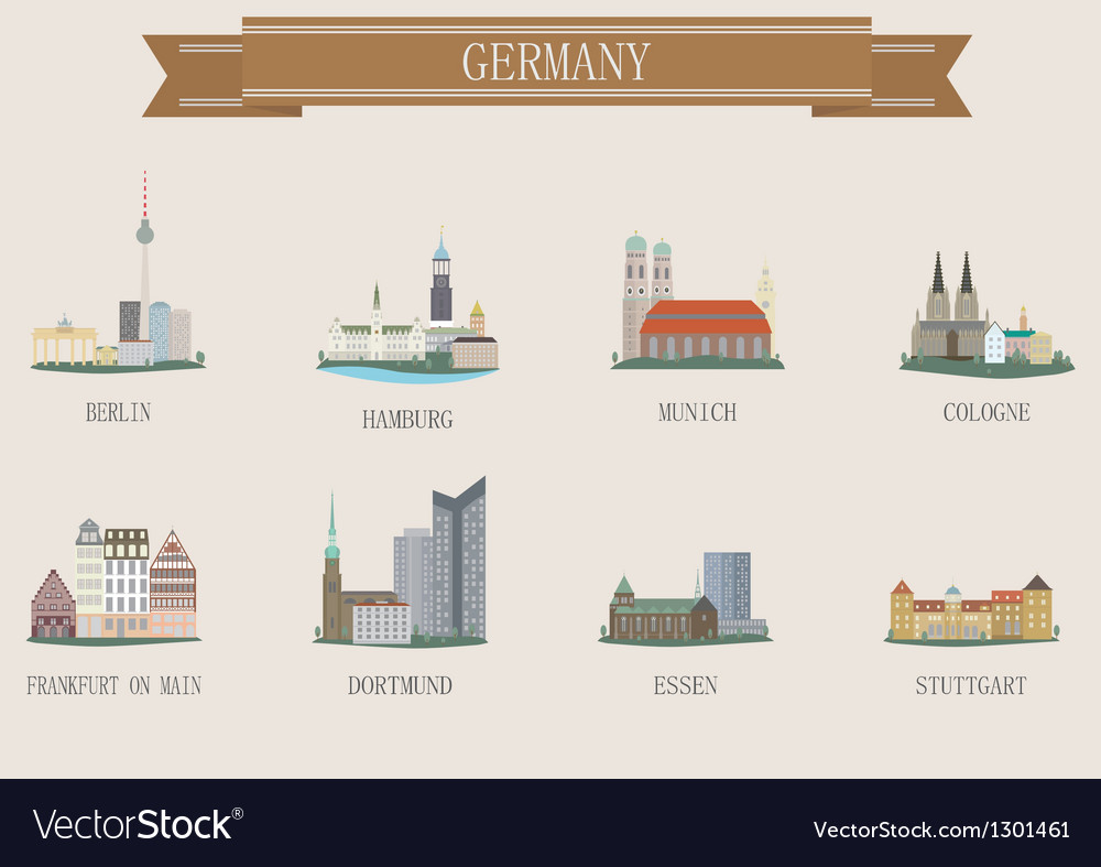 Germany city vector | Price: 1 Credit (USD $1)