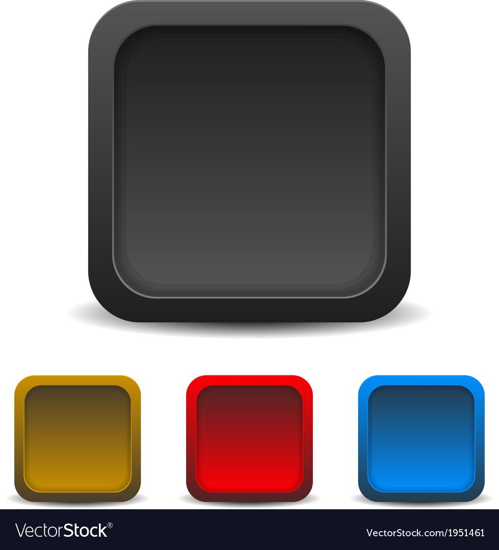 Icon template empty box vector | Price: 1 Credit (USD $1)