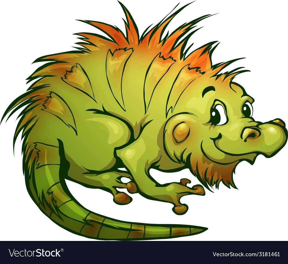 Iguana in cartoon style vector | Price: 1 Credit (USD $1)