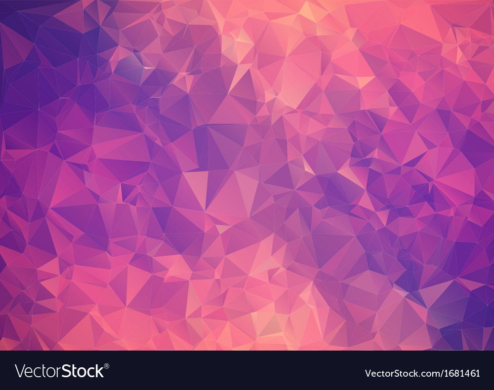 Purple pink abstract background polygon vector | Price: 1 Credit (USD $1)