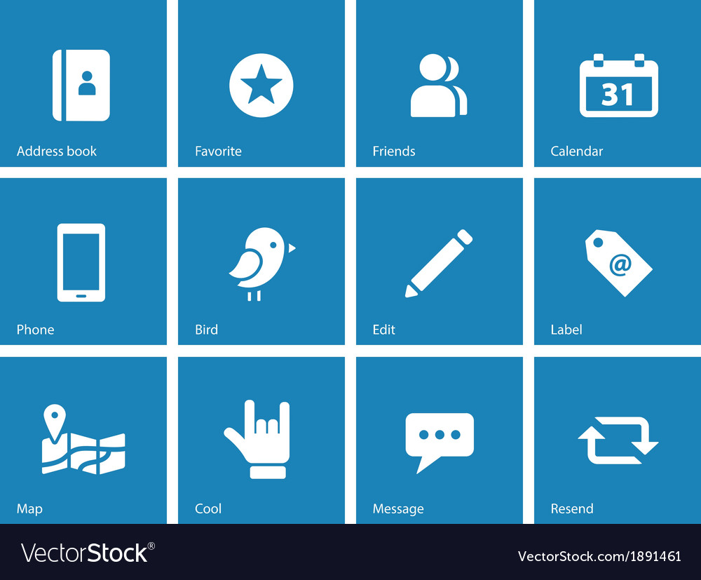 Social icons on blue background vector | Price: 1 Credit (USD $1)