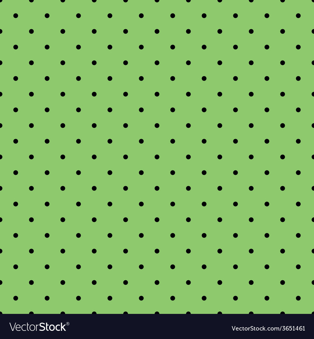 Tile black polka dots on green background vector | Price: 1 Credit (USD $1)