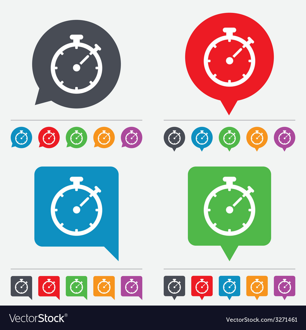 Timer sign icon stopwatch symbol vector | Price: 1 Credit (USD $1)