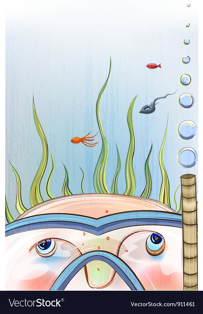 Underwater child vector | Price: 3 Credit (USD $3)
