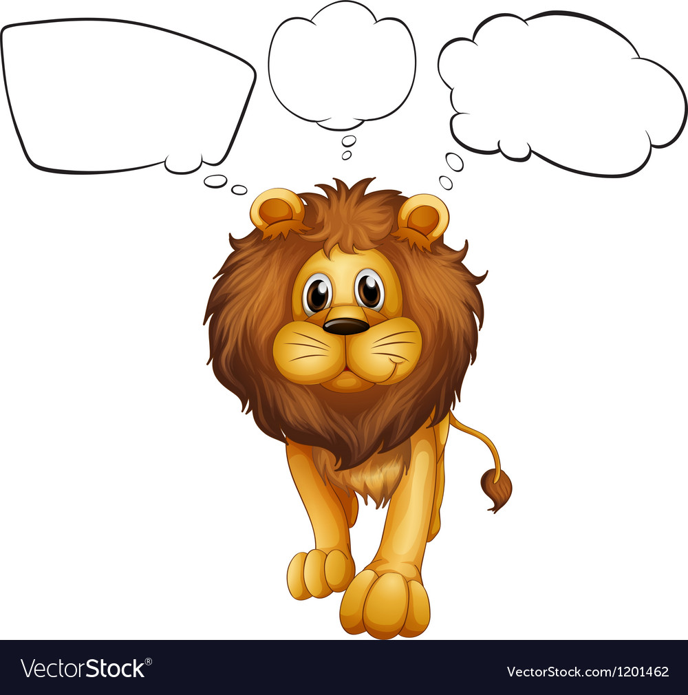 A strong lion with empty callouts vector | Price: 1 Credit (USD $1)