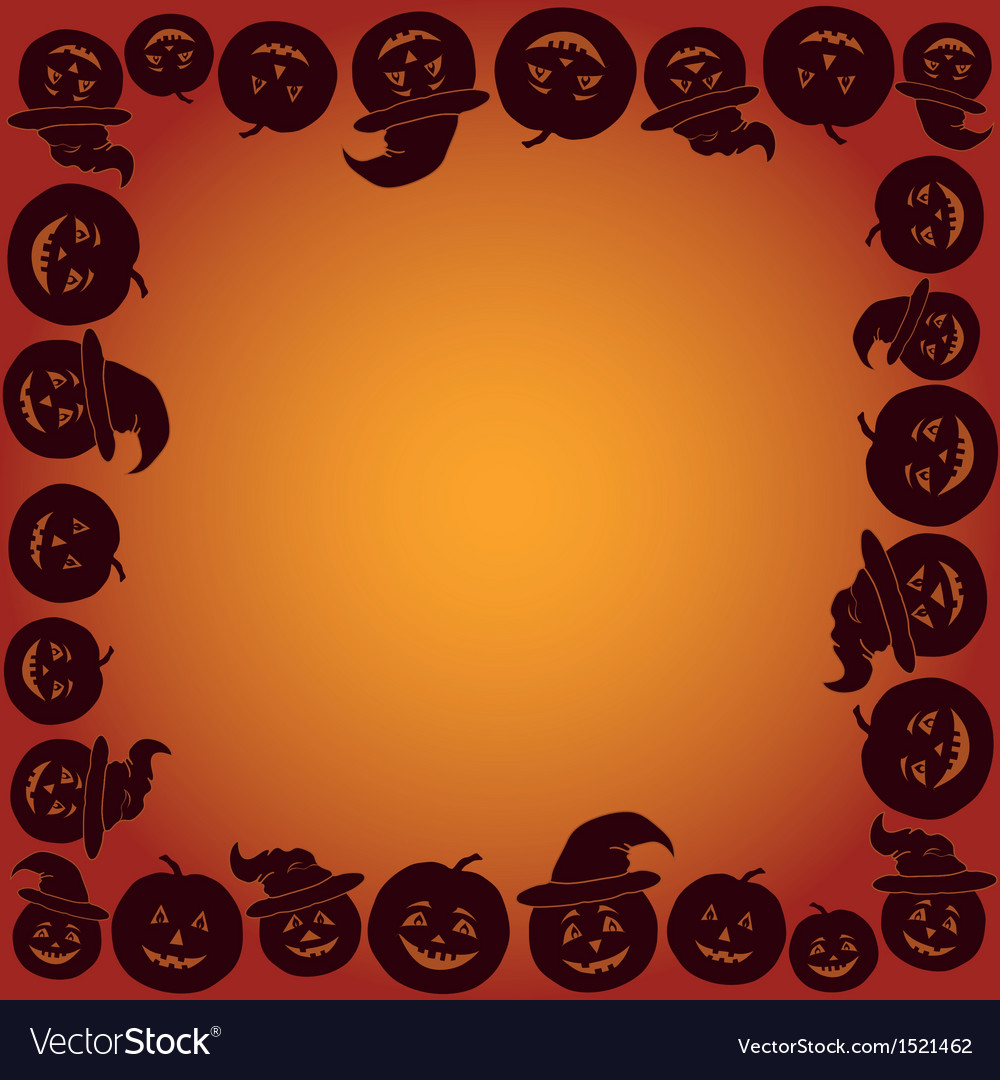 Background with pumpkins jack o lantern vector | Price: 1 Credit (USD $1)
