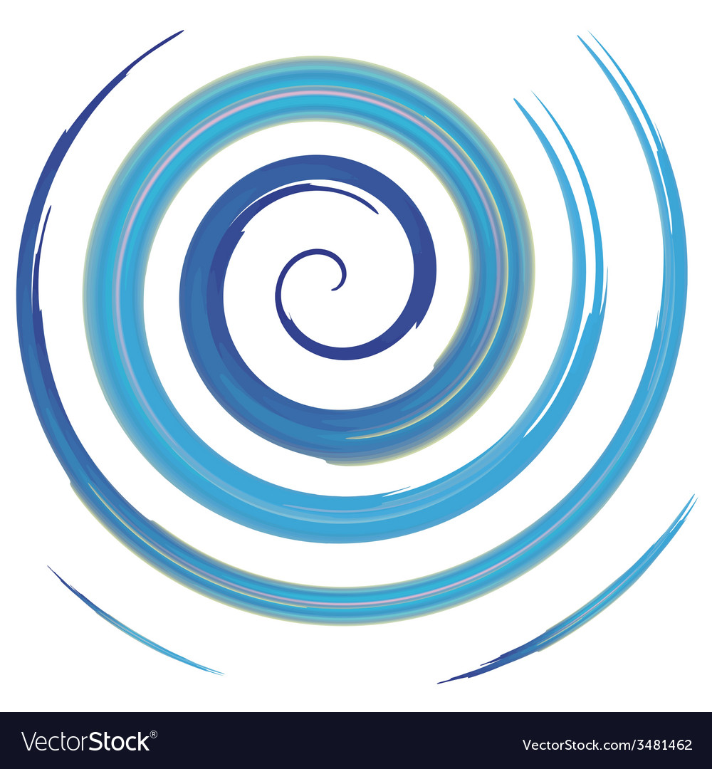 Blue watercolor spiral vector | Price: 1 Credit (USD $1)