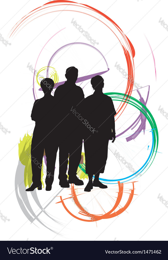 Businesspeople vector | Price: 1 Credit (USD $1)