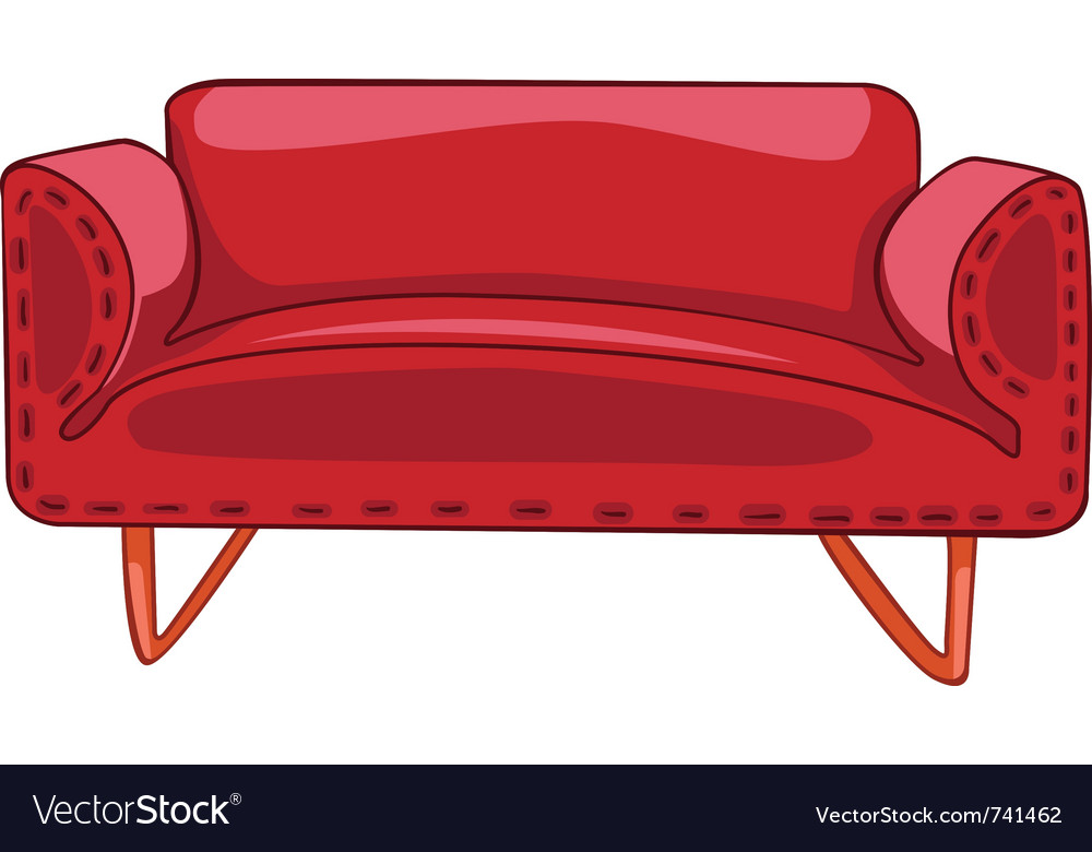 Cartoon home furniture sofa vector | Price: 1 Credit (USD $1)