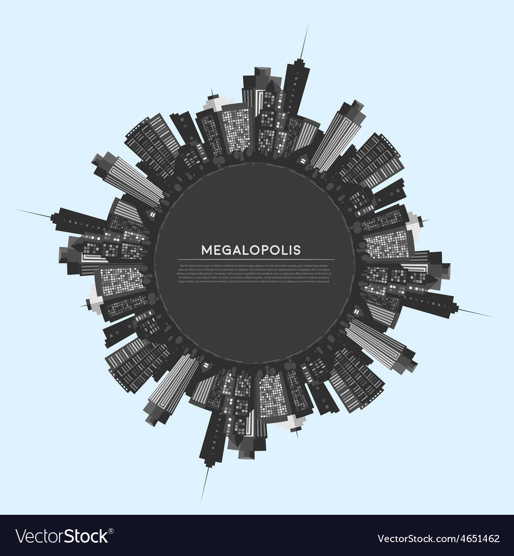 Circle modern city vector | Price: 1 Credit (USD $1)