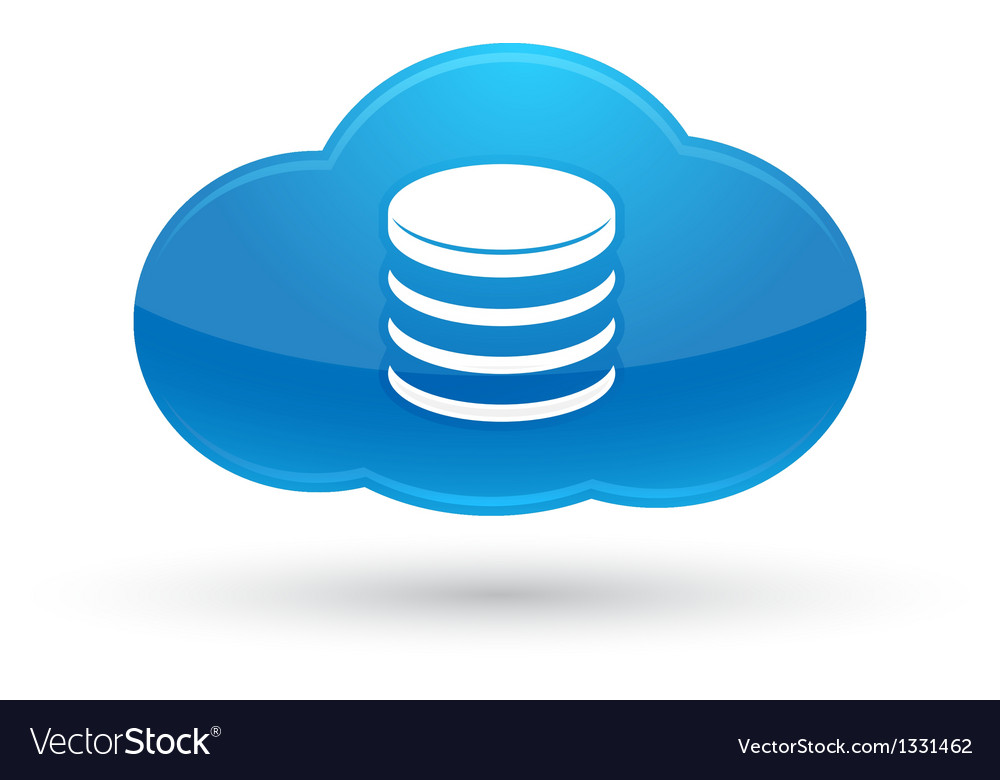 Cloud computing database icon vector
