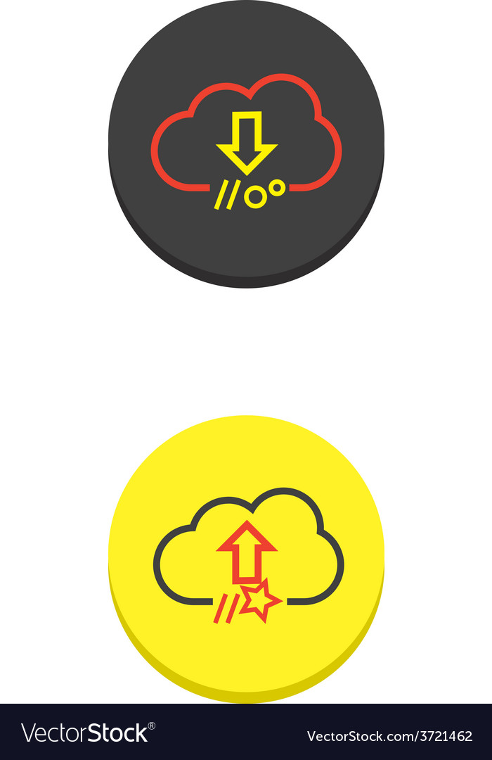 Cloud download and upload icon 3 vector | Price: 1 Credit (USD $1)