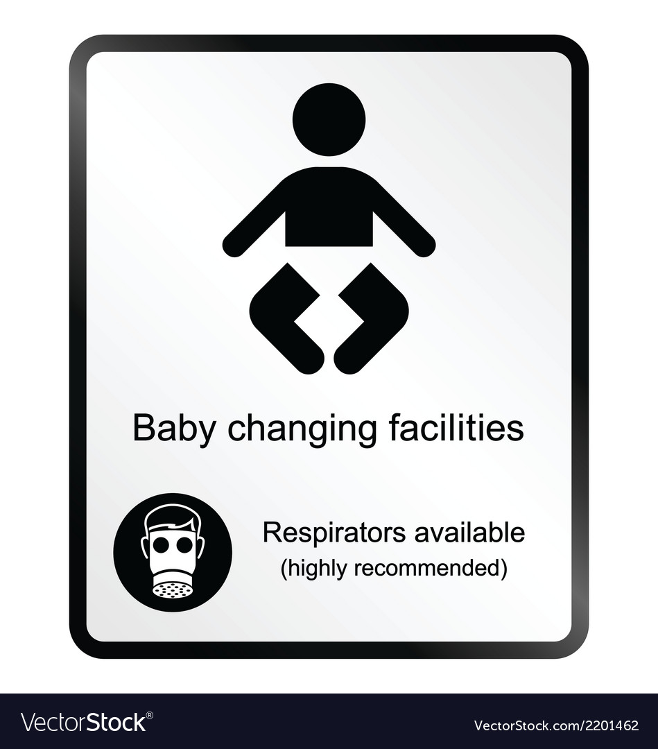 Comical baby changing facilities information sign vector | Price: 1 Credit (USD $1)