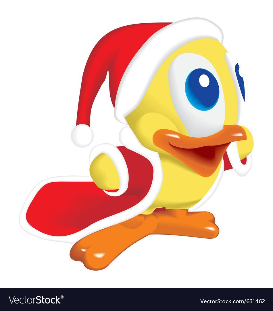 Duck santa klaus vector | Price: 1 Credit (USD $1)