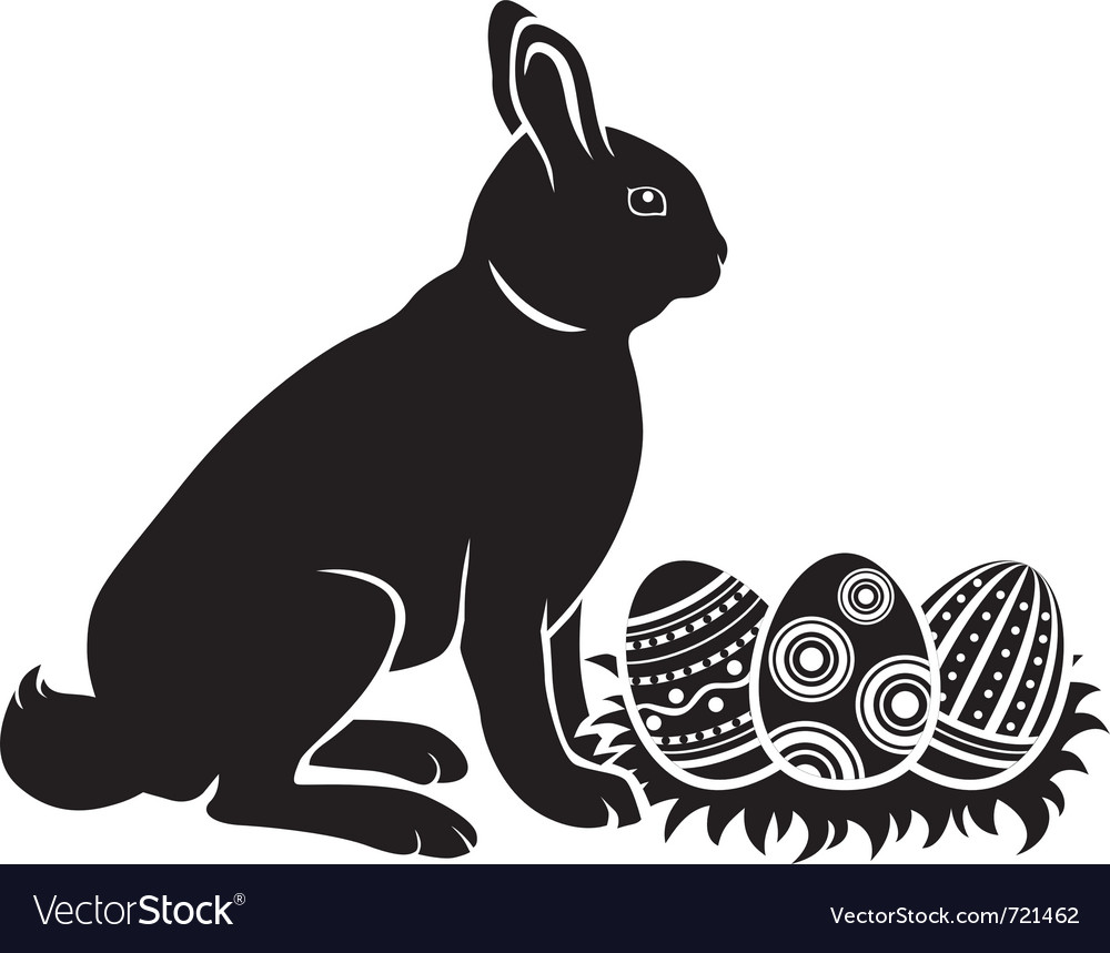 Easter bunny and eggs vector | Price: 1 Credit (USD $1)