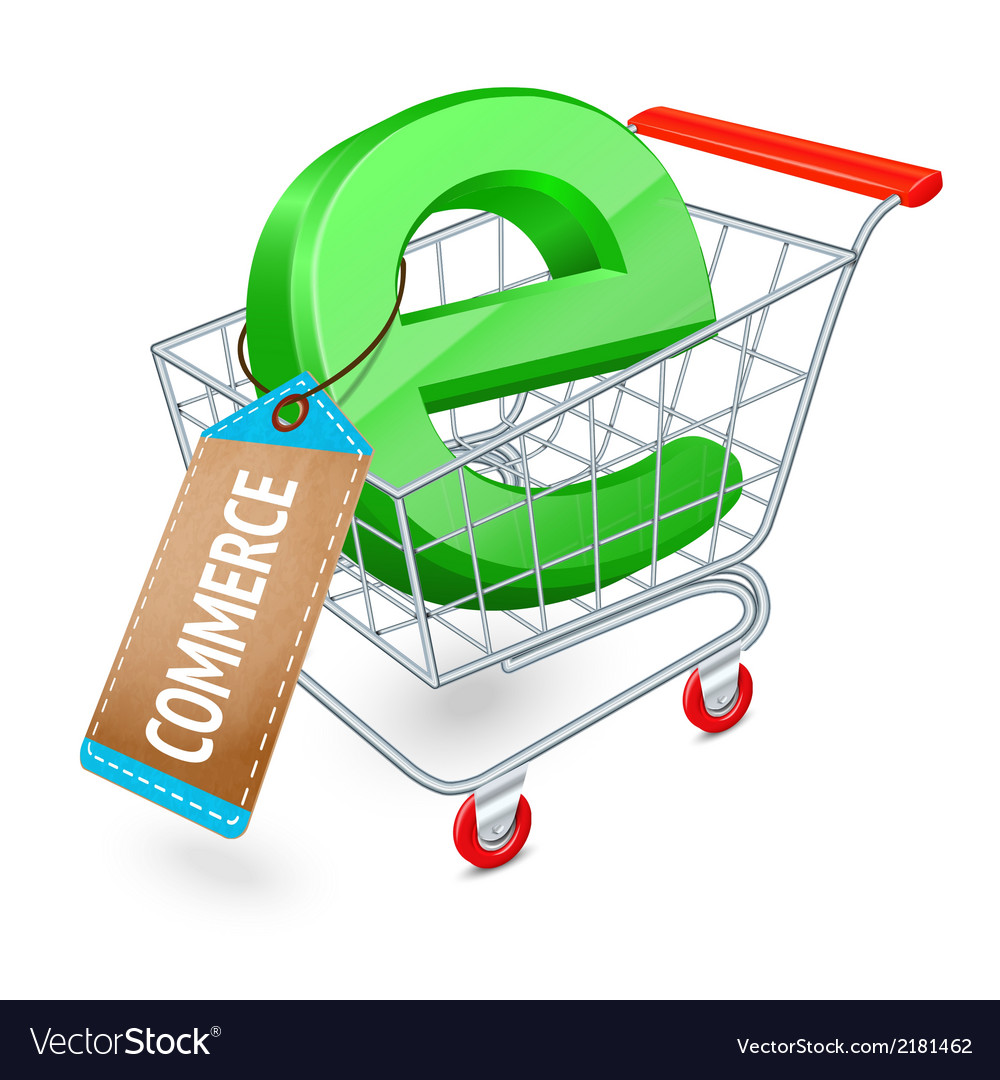 E-commerce shopping cart concept vector | Price: 1 Credit (USD $1)