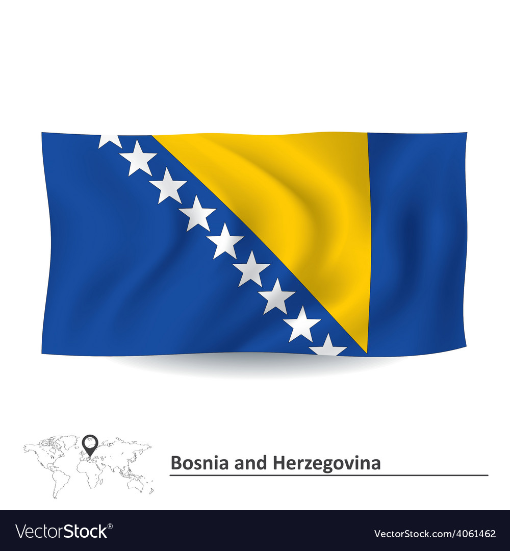 Flag of bosnia and herzegovina vector | Price: 1 Credit (USD $1)