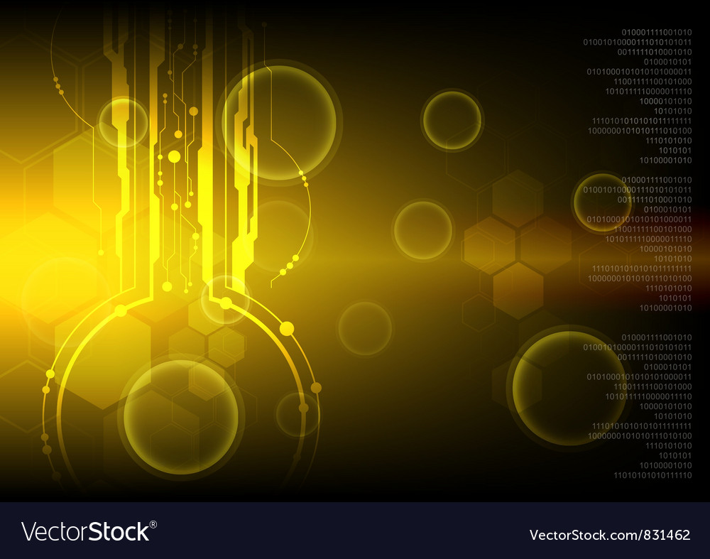 Golden technology background vector | Price: 1 Credit (USD $1)