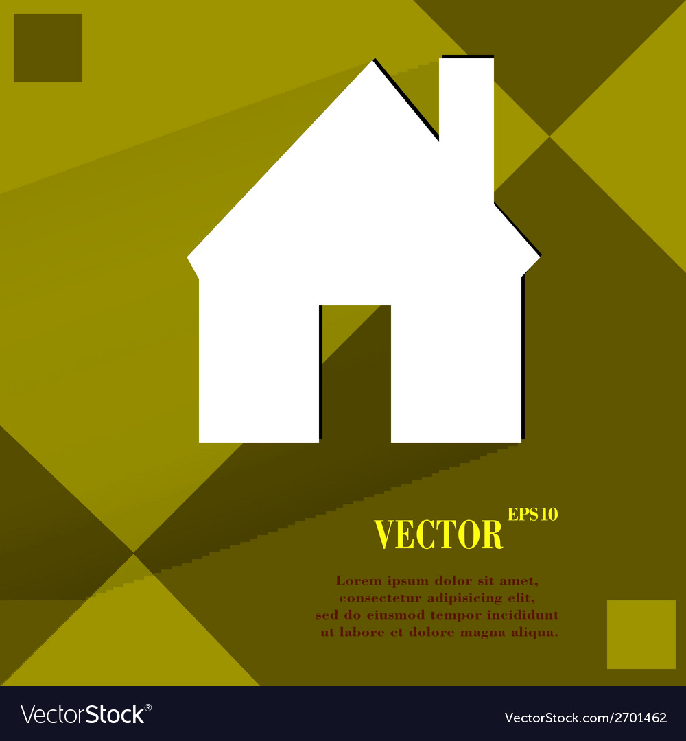 Home flat modern web design on a flat geometric vector | Price: 1 Credit (USD $1)