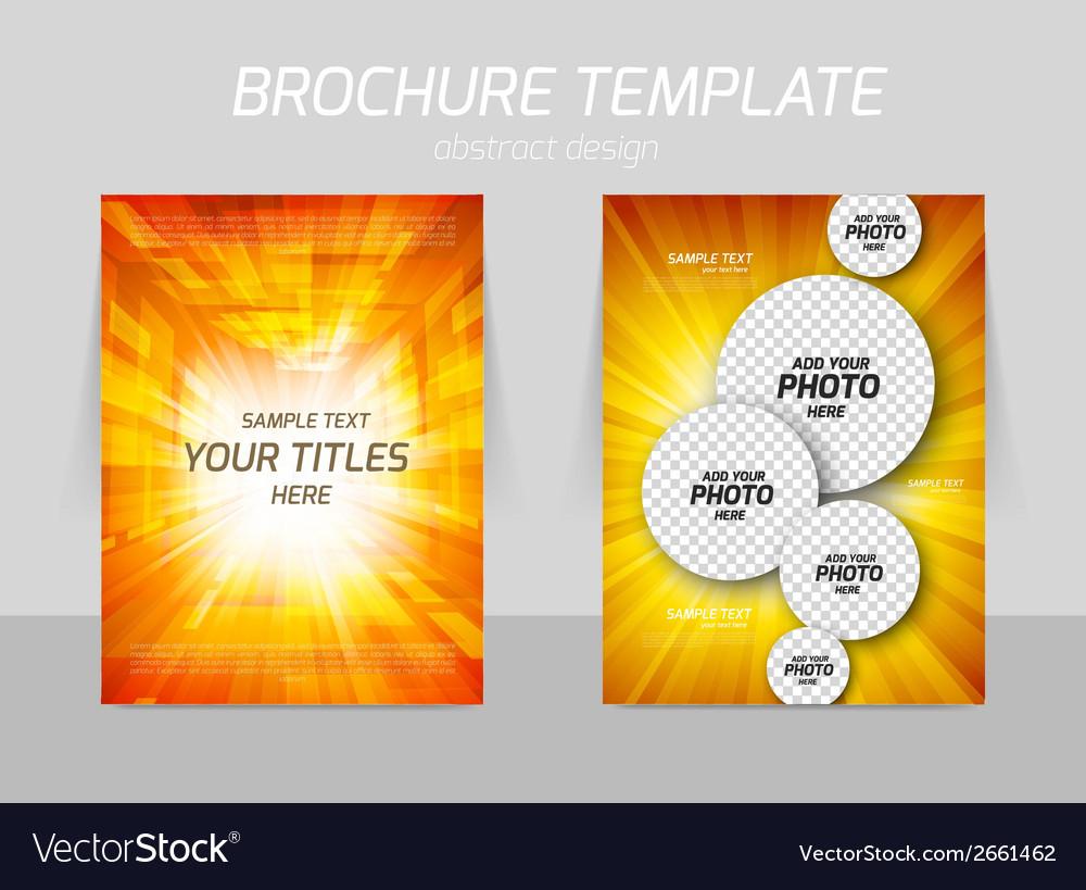 Orange flyer design vector | Price: 1 Credit (USD $1)