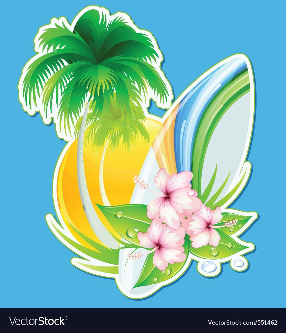 Summer insignia vector   Price: 1 Credit (USD $1)