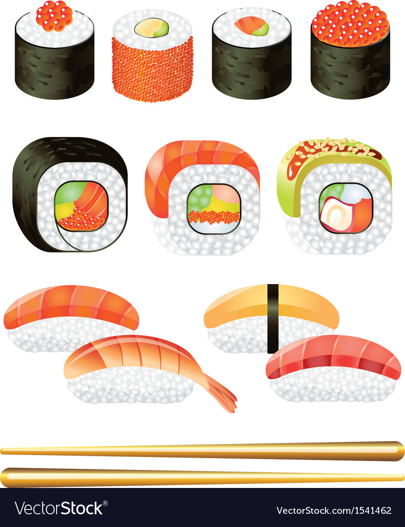 Sushi set vector | Price: 3 Credit (USD $3)
