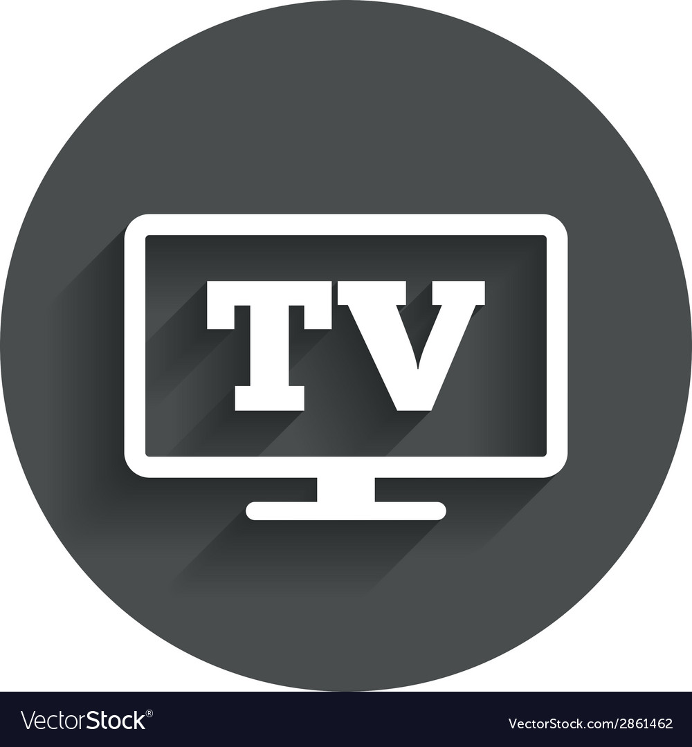 Widescreen tv sign icon television set symbol vector | Price: 1 Credit (USD $1)