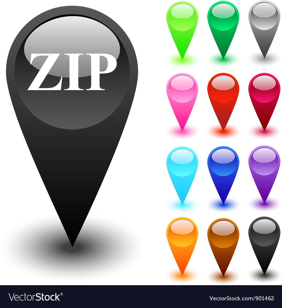Zip button vector | Price: 1 Credit (USD $1)