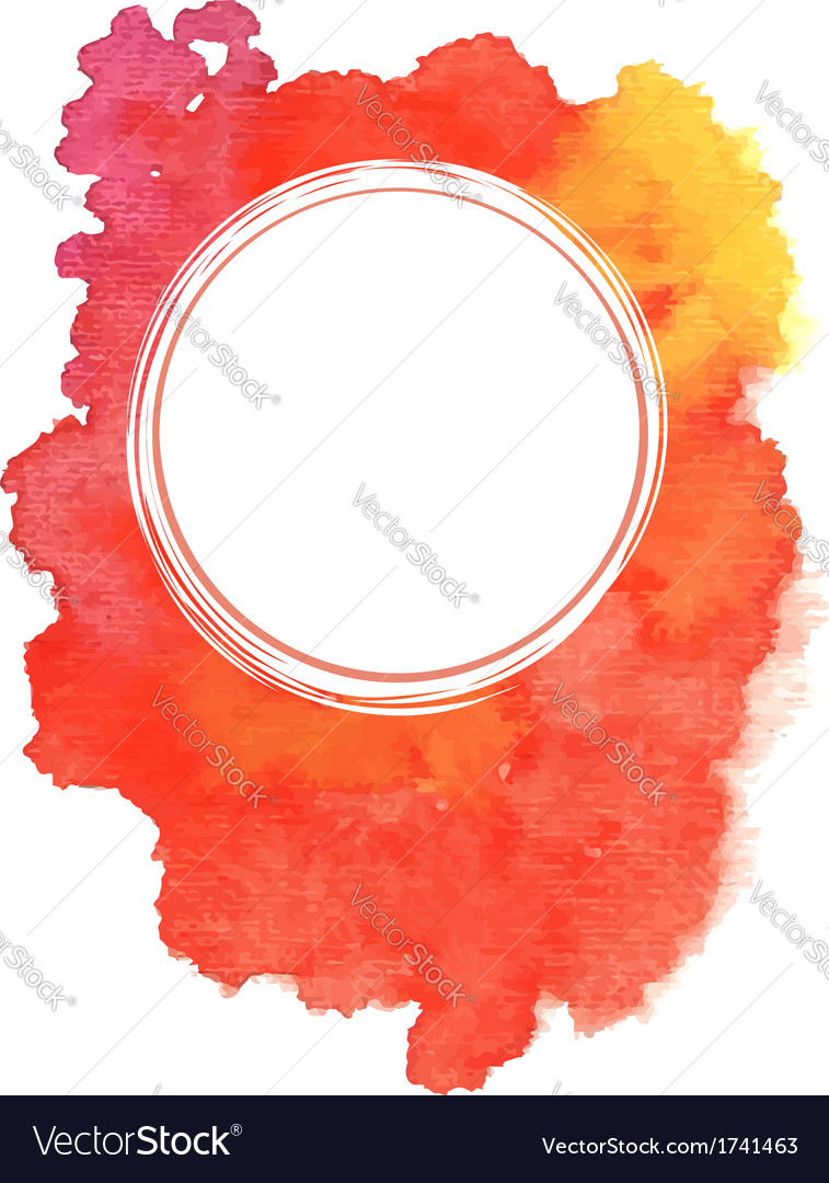 Abstract red watercolor background vector | Price: 1 Credit (USD $1)