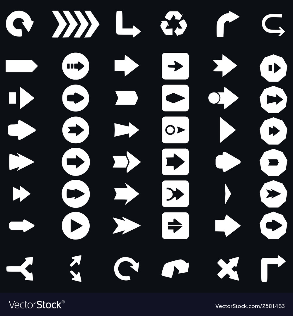 Arrow sign icon set vector | Price: 1 Credit (USD $1)