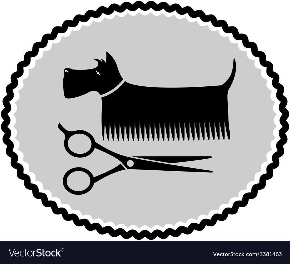 Dog haircut sign vector | Price: 1 Credit (USD $1)