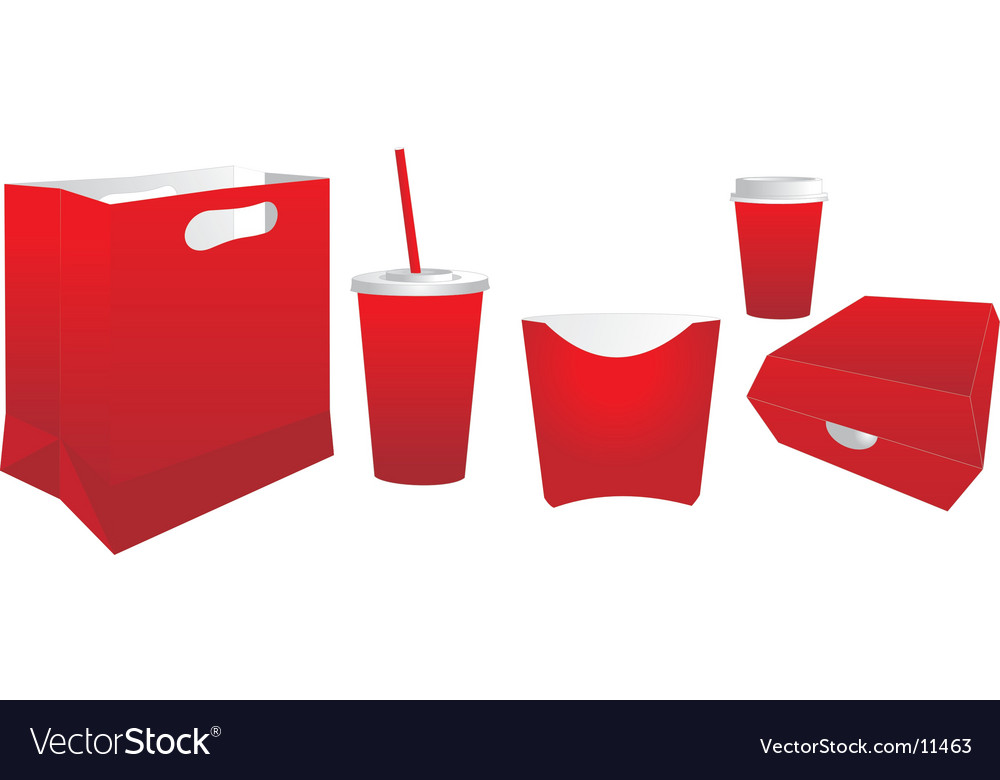 Fast food package vector   Price: 1 Credit (USD $1)