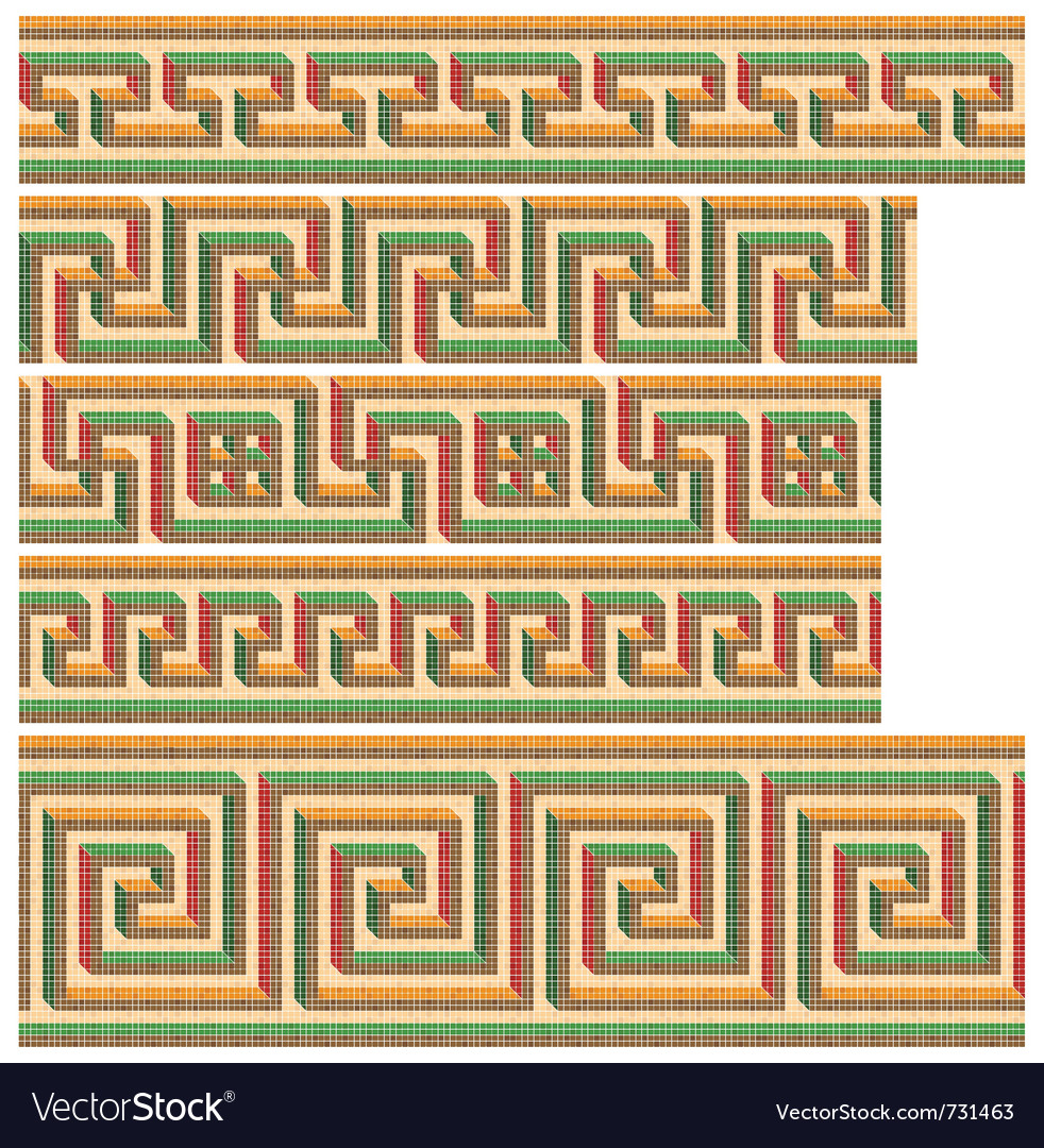 Greek - roman seamless mosaics vector | Price: 1 Credit (USD $1)