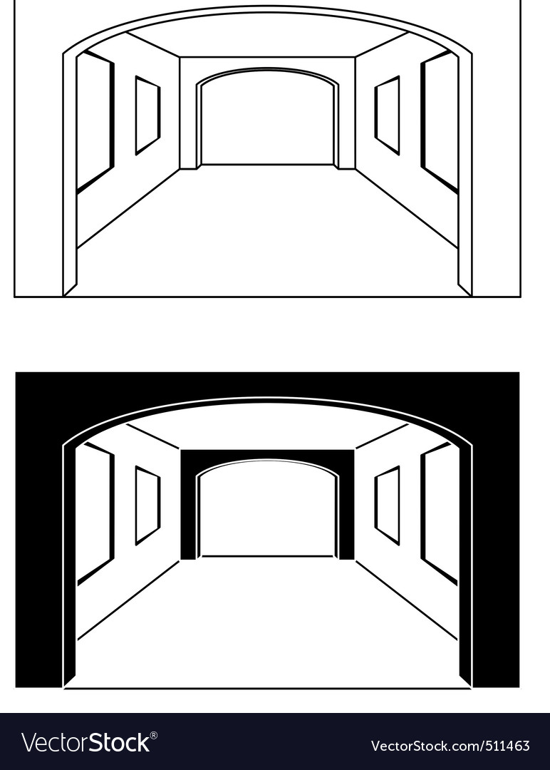 Interior  hall vector | Price: 1 Credit (USD $1)