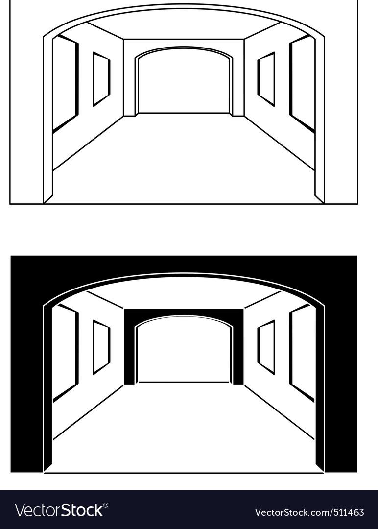Interior  hall vector | Price: 1 Credit (USD $1)