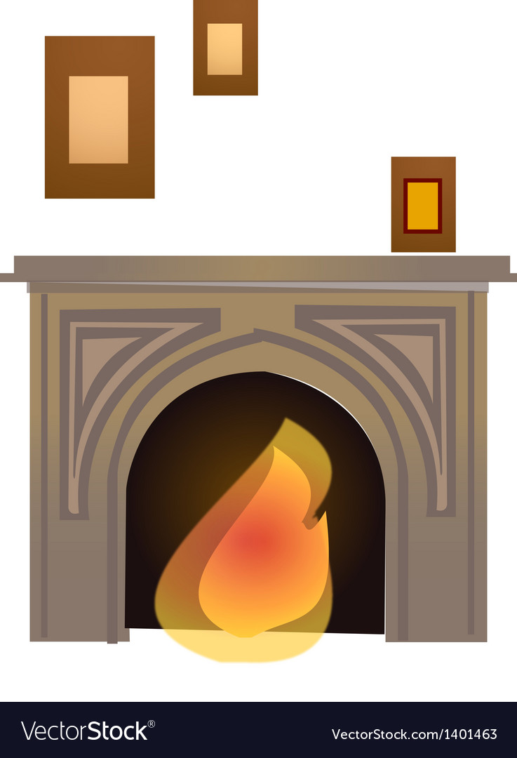 Kindle a fire in a fireplace vector | Price: 1 Credit (USD $1)