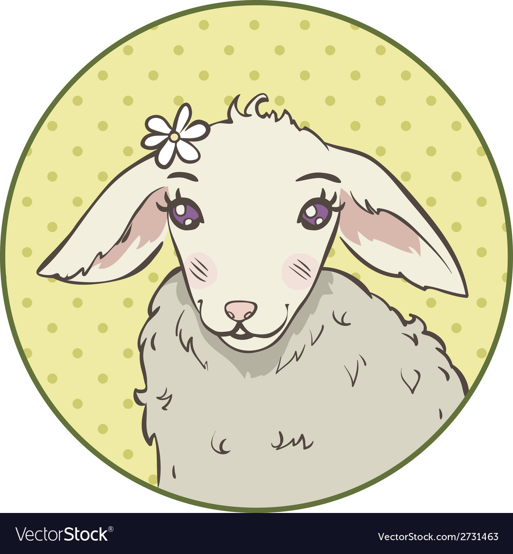 Lamb head vector | Price: 1 Credit (USD $1)