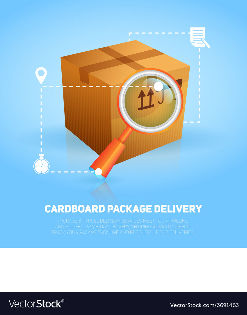 Logistic package poster vector | Price: 1 Credit (USD $1)