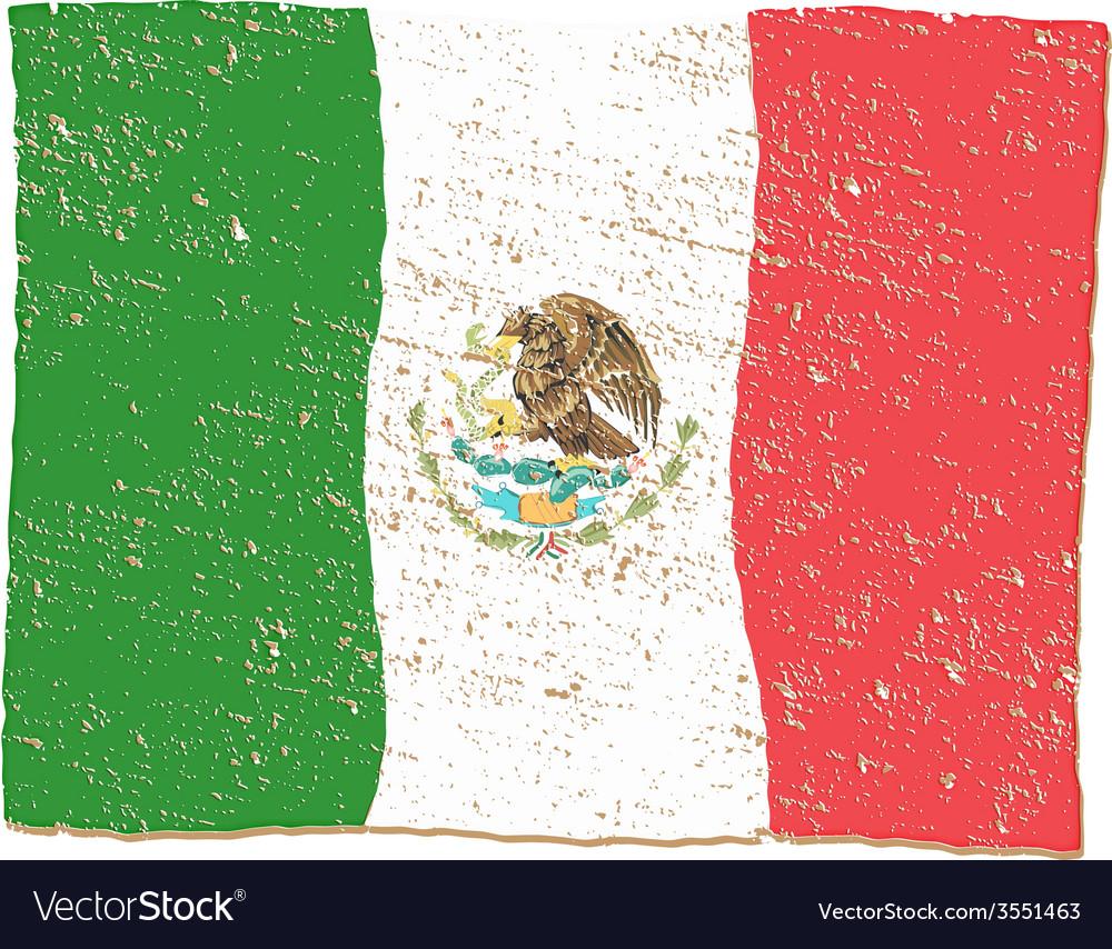 Mexico flag vector   Price: 1 Credit (USD $1)