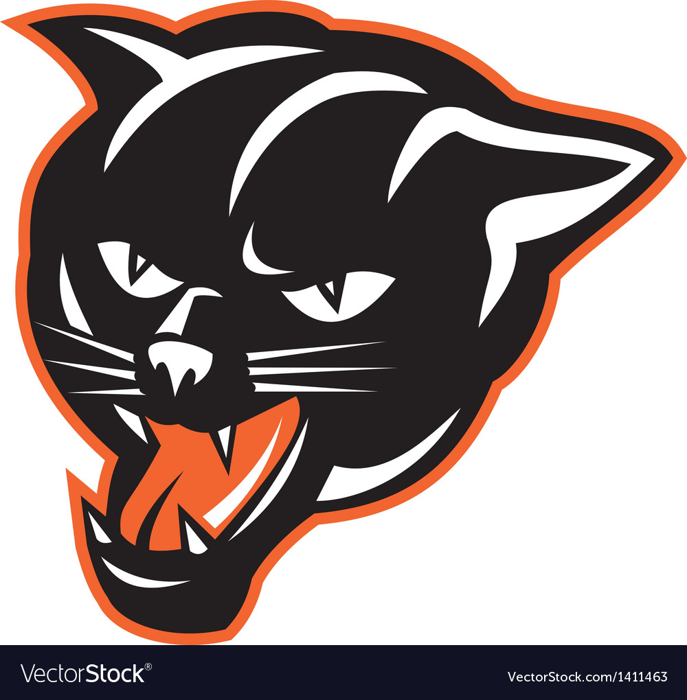 Panther big cat growling vector | Price: 1 Credit (USD $1)