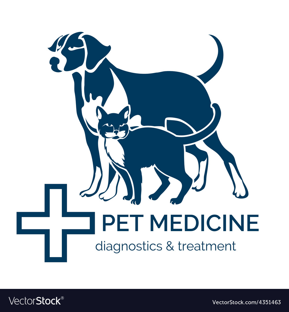 Pet clinic logo vector | Price: 1 Credit (USD $1)