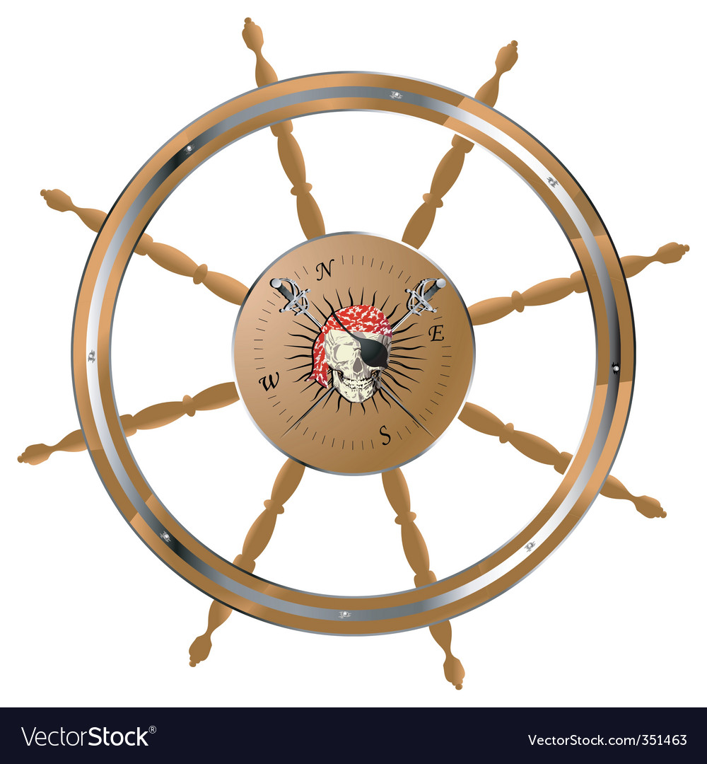 Pirate steering wheel vector | Price: 3 Credit (USD $3)
