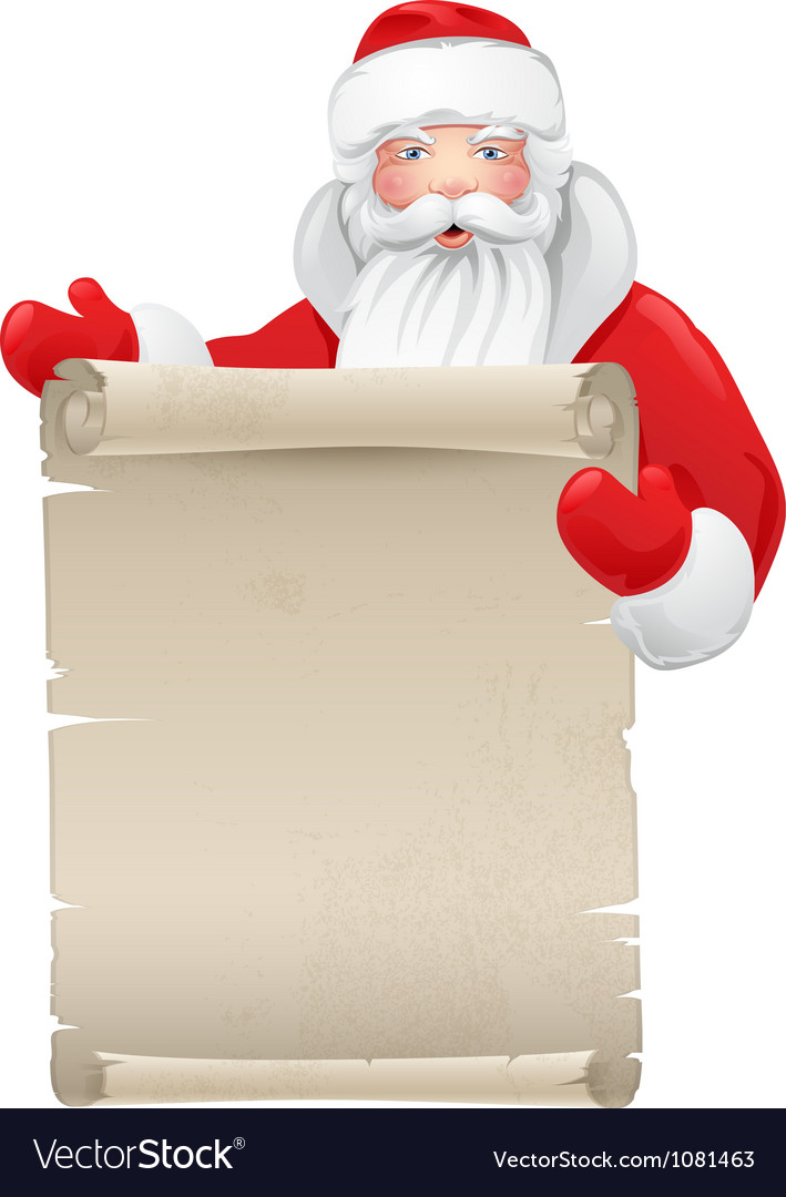 Santa claus with the manuscript vector | Price: 1 Credit (USD $1)