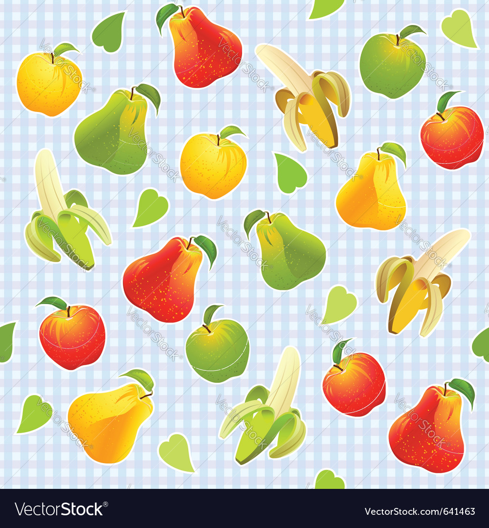 Seamless fruit background vector | Price: 1 Credit (USD $1)