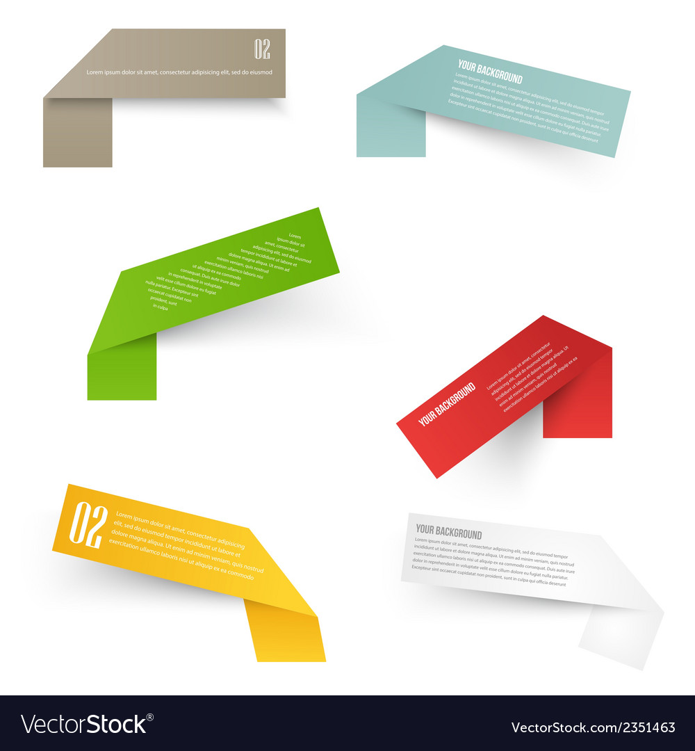 Set of blank rectangle labels acute corners vector | Price: 1 Credit (USD $1)