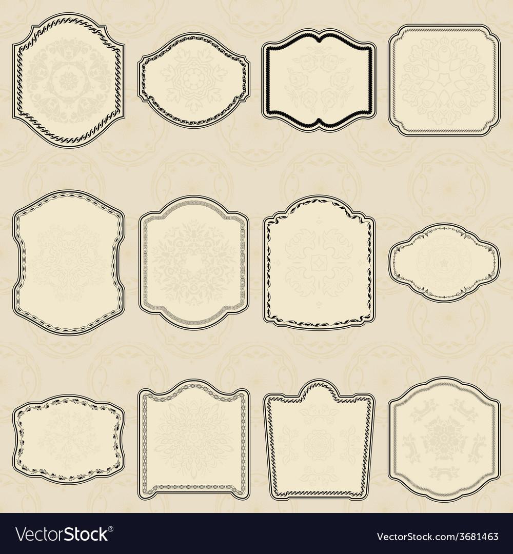 Set of design elements-vintage labels vector | Price: 1 Credit (USD $1)