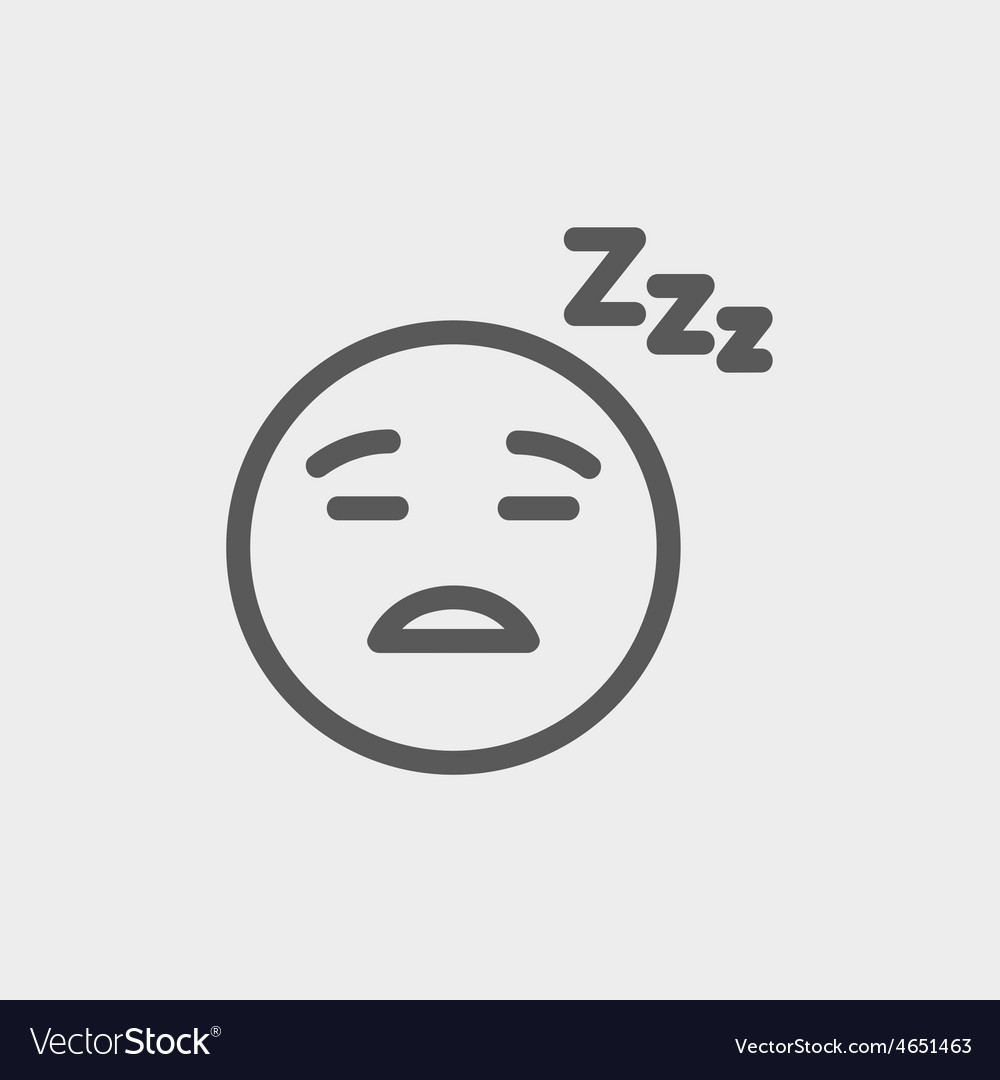 Sleeping thin line icon vector | Price: 1 Credit (USD $1)