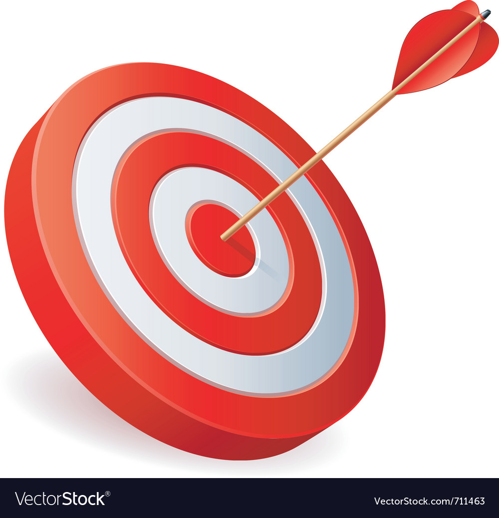 Target with arrow vector | Price: 3 Credit (USD $3)